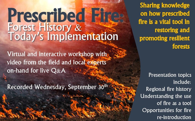 Recording of prescribed fire webinar now available